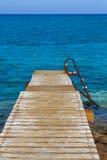 Pier in het Overzees Stock Foto
