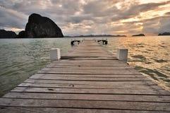 Pier in het Overzees Royalty-vrije Stock Afbeeldingen