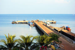 Pier at Hok Mak. Apr 2011, Pier at Koh Mak island, Trat, Thailand royalty free stock photo