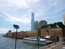 Pier in Hong Kong. The pier of turbojet to Macau stock photos