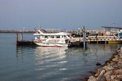 Pier at Hormoz island Stock Photo