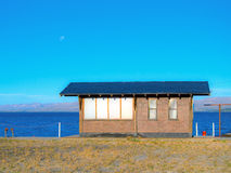 Pier house. In Lake Nahuel Huapi in sunset - Bariloche - Patagonia - Argentina Royalty Free Stock Images