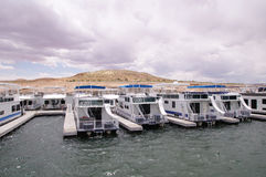 Pier for houseboats in Lake Powell Royalty Free Stock Images