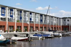 Pier houses Royalty Free Stock Images