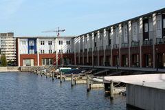 Pier houses Stock Photography