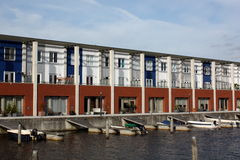 Pier houses royalty free stock photo