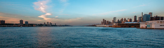 Pier Hudson River Park New York skyline. Pier 90 Hudson River Park New York skyline landscape Stock Images
