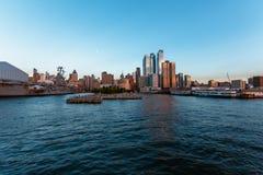 Pier 83 Hudson River Park sunset. Pier Hudson River Park sunset from the river Royalty Free Stock Image