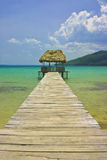 Pier Hut, Guatemala Stock Photo