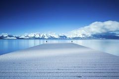 Pier II Lake Tahoe Snowy Stockfoto
