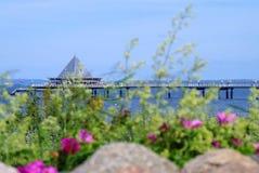Pier im heringsdorf in der Ostsee stockbilder