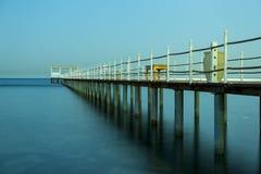 Pier im Meer in Ägypten Stockbild