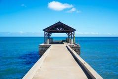 Pier im Pazifischen Ozean in Hawaii Lizenzfreie Stockbilder