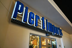 Pier 1 Imports exterior sign and entrance Stock Photo