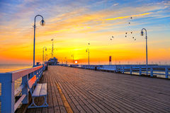 Pier In Sopot Stock Images