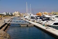 Pier In The Marina Of El Gouna Stock Photo