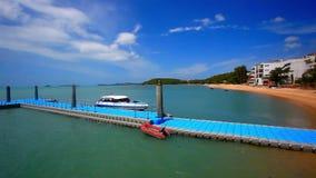 Pier on the island of Koh Samui in Bophut area stock video footage