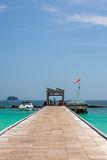 Pier on the island of Maiton, Thailand Royalty Free Stock Image