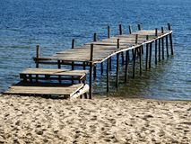 Pier. On Island of the Sun (Bolivia Royalty Free Stock Image