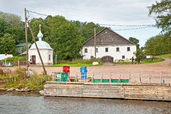 Pier on the island of Valaam Royalty Free Stock Images