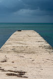 Pier in Jamaica. One pier at the beach on Jamaica Royalty Free Stock Image