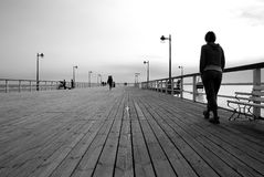 Pier in jastarnia Royalty Free Stock Images