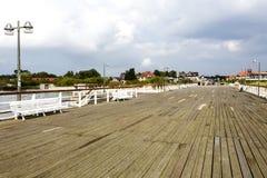 Pier in Jastarnia, Poland Stock Photo
