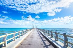 Pier or jetty and sea in Forte dei Marmi Versilia Tuscany Italy Royalty Free Stock Photography