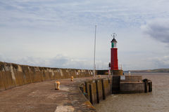 The pier jetty and harbour , Watchet, England Royalty Free Stock Photos