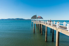 Pier / jetty on The Strand, Townsville. Families enjoying time on the jetty / pier on The Strand, Townsville, Queensland, Australia on a warm summer day Royalty Free Stock Photos