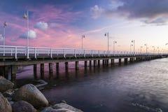 Pier in Jurata Stock Images