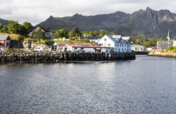 Pier of Kabelvag Stock Image