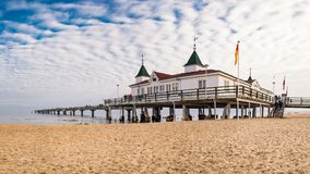 The pier of the Kaiserbad Ahlbeck. On the island of Usedom Royalty Free Stock Image