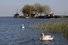Pier in Keszthely Stock Image