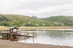 Pier in the Knysna Lagoon Stock Photo