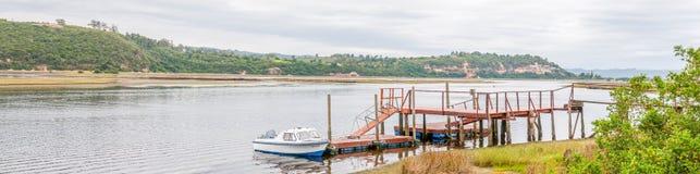 Pier in the Knysna Lagoon Royalty Free Stock Photos