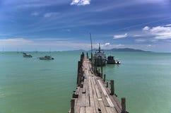 Pier-KOH Samui BO-Phut Stockfotografie