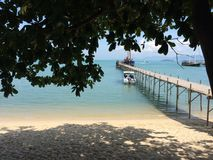 Pier at Koh Samui stock photography