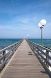 Pier of Kuehlungsborn,Germany Royalty Free Stock Photo