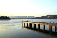 Pier of Kunming Lake Stock Photography