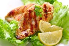 pierś kurczak piec na grillu Zdjęcie Royalty Free