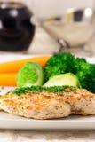 pierś kurczaka warzyw odparowany whit Obraz Royalty Free