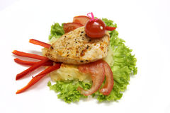 pierś kurczaka z grilla Obraz Royalty Free