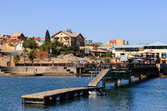 Pier - Lüderitz Harbour. Lüderitz is a harbour town in southwest Namibia, lying on one of the least hospitable coasts in Africa. It is a port developed royalty free stock image