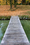 Pier on Lac d'annecy. France Stock Photo
