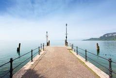 Pier in Lago di Garda Stock Images