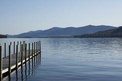 Pier on the lake Stock Photos