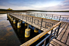 Pier on lake Royalty Free Stock Images