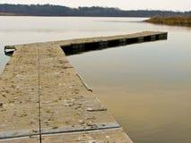 Pier on Lake 2-12. Pier on lake at Shabbona State Park, Illinois Royalty Free Stock Photography