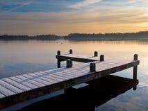 Pier at lake Royalty Free Stock Photo